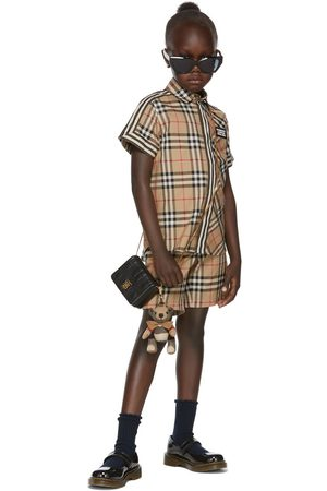 Burberry Kids Beige Vintage Check Tailored Shorts