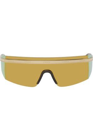 VERSACE Gold Rock Icons Medusa Shield Sunglasses
