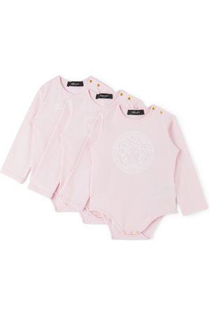 VERSACE Baby Three-Pack Pink Medusa Bodysuits