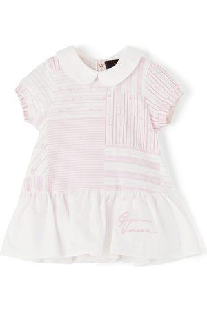 VERSACE Baby Pink Patchwork Dress Bodysuit