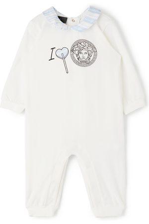 VERSACE Baby White I Heart Medusa Bodysuit
