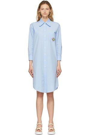 Gucci Blue Cauliflower Shirt Dress