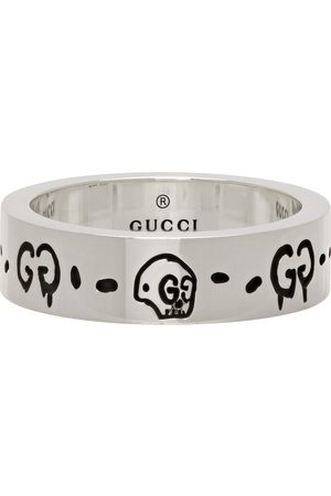 Gucci Trouble Andrew Edition Slim Ghost Skull Ring