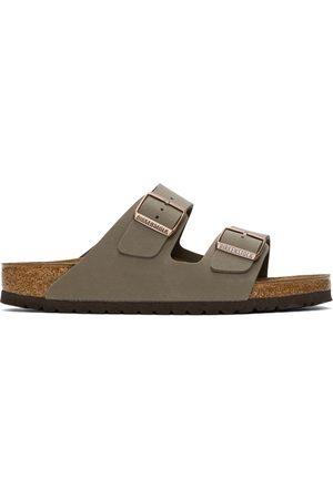 Birkenstock Taupe Birkibuc Arizona Sandals