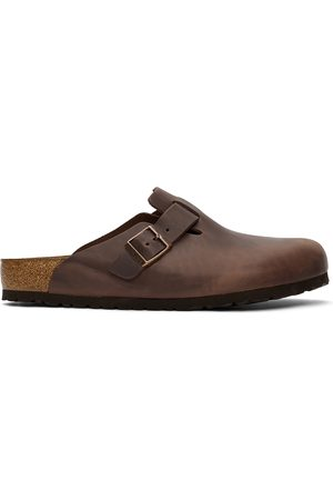Birkenstock Brown Oiled Leather Boston Loafers