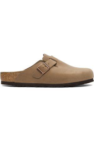 Birkenstock Beige Oiled Leather Boston Loafers