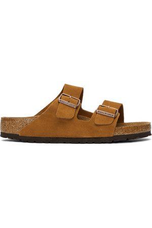 Birkenstock Tan Suede Soft Footbed Arizona Sandals