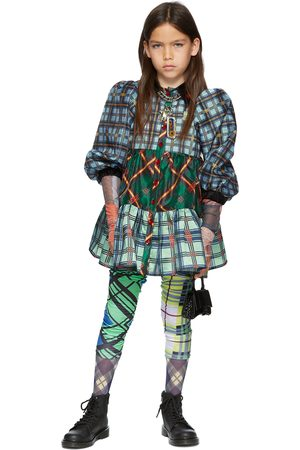 Chopova Lowena SSENSE Exclusive Kids Multicolor Tartan Tiered Dress