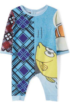 Chopova Lowena SSENSE Exclusive Baby Multicolor Fish & Tartan Print Grow Long Jumpsuit