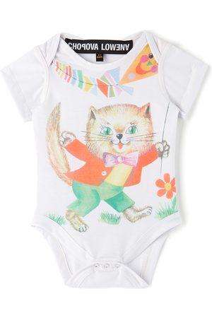 Chopova Lowena SSENSE Exclusive Baby White Cat Jersey Jumpsuit