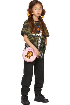 BAPE Kids Green Milo Shark Hoodie Print T-Shirt