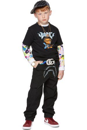 BAPE Kids Black Shark Jogger Trousers