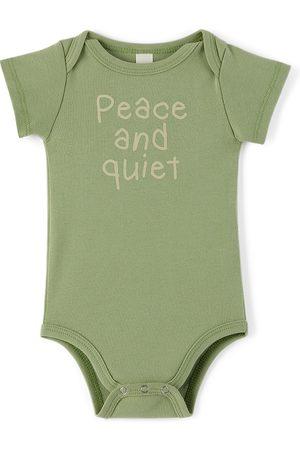 Museum Of Peace & Quiet SSENSE Exclusive Baby Green Scribble Bodysuit