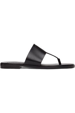 Loewe Black Anagram Flip Flops