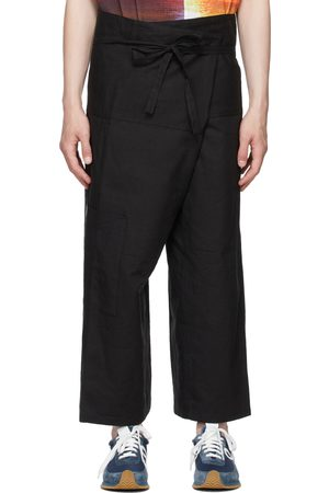 Loewe Black Paula's Ibiza Linen & Cotton Cargo Pants