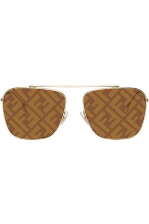 Fendi Gold 'Forever ' Aviator Sunglasses