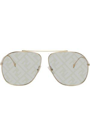 Fendi Gold ' Forever' Aviator Sunglasses