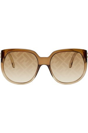 Fendi Brown 'Forever ' Round Sunglasses