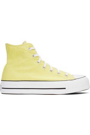 Converse Yellow Platform Chuck Taylor All Star High Sneakers