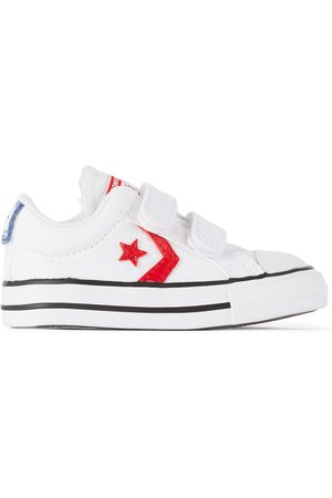 Converse Baby White Varsity Canvas Easy-On Star Player Sneakers
