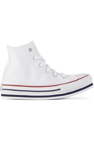 Converse Kids White Chuck Taylor All Star Platform Sneakers