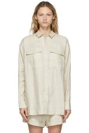 Bondi Born Off-White Linen Bari Shirt