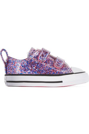 Converse Baby Pink Glitter Easy-On Chuck Taylor All Star Sneakers