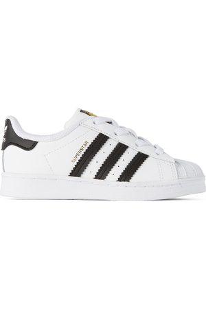 adidas Baby White & Black Superstar Sneakers