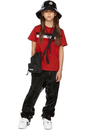 Moncler Kids Red Mesh Flag Big Kids T-Shirt