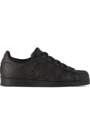 adidas Kids Black Superstar Sneakers
