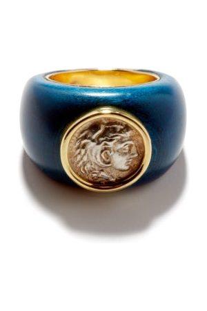 Dubini Alexander Coin, Wood & 18kt Gold Ring - Womens - Multi