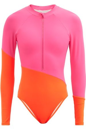 Cynthia Rowley Nazare Colour-block Surfing Swimsuit - Womens - Multi