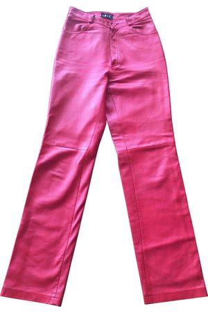 Irié Leather straight pants