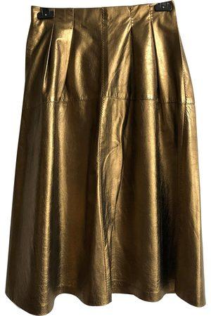 Ralph Lauren Leather mid-length skirt