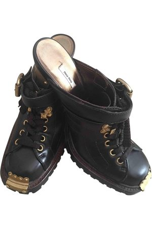 Miu Miu Leather Mules & Clogs