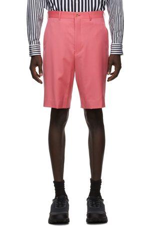 Comme des Garçons Men Shorts - Pink Wool Gabardine Shorts