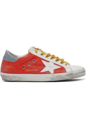 Golden Goose Men Sneakers - White & Red Ripstop Super-Star Sneakers