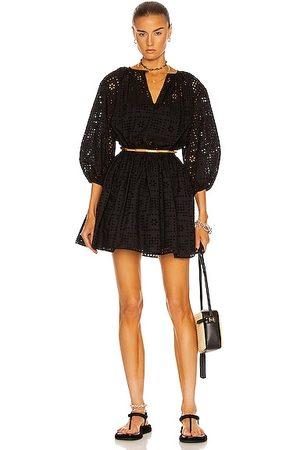 MATTEAU Women Party Dresses - Crochet Broderie Mini Dress in