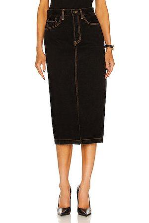 WARDROBE.NYC Denim Midi Skirt in