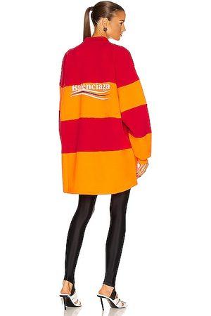 Balenciaga Women Polo Shirts - Long Sleeve Cut Up Polo Top in