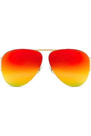 Bottega Veneta Women Sunglasses - Pilot Sunglasses in Red,Metallic