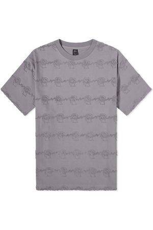 Brain Dead Men T-shirts - Running Head Textured Stripe Tee