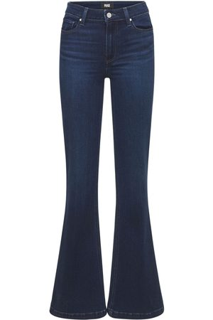 Paige Genevieve Flared High Rise Denim Jeans