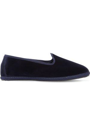 VIBI VENEZIA Men Loafers - 10mm Blu Velvet Loafers