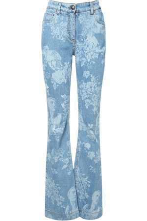 Etro Printed Stretch Cotton Jeans