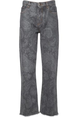Etro Printed Stretch Cotton Cropped Jeans