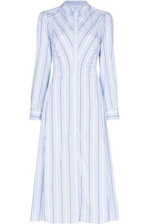 Evi Grintela Women Casual Dresses - Look7 stripe-pattern shirtdress