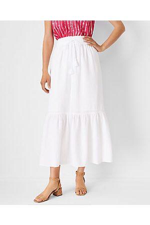 ANN TAYLOR Women Maxi Dresses - Flounce Drawstring Maxi Dress