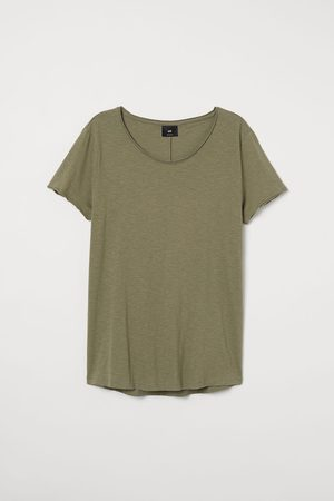 H&M Men T-shirts - Raw-edge T-shirt