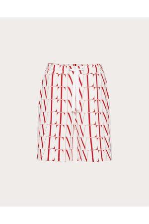 VALENTINO Cotton Bermuda Shorts With Vltn Times Print Man / Cotton 92% L